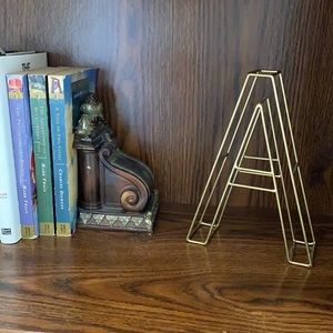Letter A Home Decor in Muted Gold | NWOT